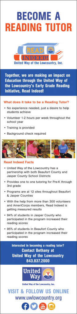 Reading Volunteer Opportunities in Beaufort, Bluffton and Hilton Head